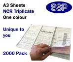 Personalised Duplicating NCR Permits to Work (A3 in Triplicate) 2000 Permits