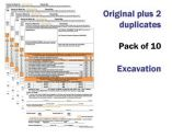 Excavation Permit To Work Self Duplicating Forms Pack of 10