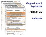 Asbestos Permit To Work Self Duplicating Forms Pack of 10
