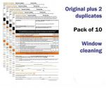 Window Cleaning Permit To Work Self Duplicating Forms Pack of 10