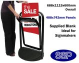 Black Pavement Promotional Sign with poster pocket (488x742mm)
