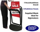 Black Pavement Promotional Sign with poster holder (A1)