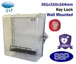 Key Lockable Clear Defibrillator Cabinet with Break Glass Key Box