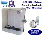 Combination Locking Clear AED Cabinet