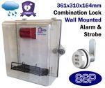 Combination Locking Defibrillator Defender Alarmed AED Cabinet