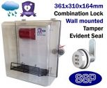 Combination Locking Defibrillator Defender Alarmed Break Seal AED Cabinet