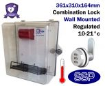 Thermostatically Controlled Combination Locking External AED Defibrillator Defender Cabinet