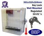 Thermostatically Controlled Key Locking External AED Defibrillator Defender Cabinet