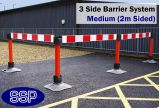 SSP Temporary Construction Site Safety Reflective Barrier System (Medium) 3 Sides