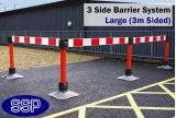 SSP Temporary Vehicle and Pedestrian Reflective Barrier System (Large) 3 Sides