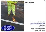 White Car Park and Lane Demarcation Thermal Marking (5 metres x 200mm Lengths) 25 metres