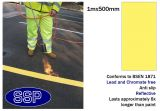 Yellow Car Park and Lane Demarcation Thermal Marking (1m x 500mm lengths) 10 metres