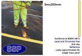 Yellow Car Park and Lane Demarcation Thermal Marking (5 metres x 200mm) 25 metres