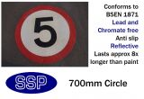5mph Speed Limit Thermal Marking (700mm)