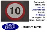 10mph Speed Limit Thermal Marking (700mm)