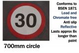 30mph Speed Limit Thermal Marking (700mm)