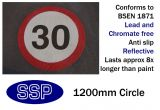 30mph Speed Limit Thermal Marking (1200mm)