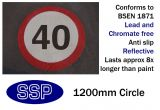 40mph Speed Limit Thermal Marking (1200mm)