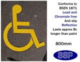 Disabled Symbol Thermal Marking Yellow 800mm
