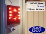 Audio Alarm and Strobe-light Fire Exit Alarm
