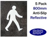 Pedestrian Symbol Thermal Marking White 800mm