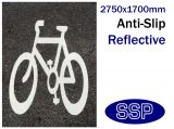 Cycle Symbol Thermal Marking White 2750x1700mm