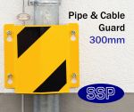 Drain Pipe and Cabling Protective Guard (Internal) Yellow 300mm