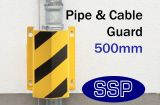 Wall Mounted Drain and Cable-run Guard (Internal) Yellow 500mm