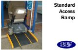 Disabled Access Ramp with lip to hook over step (600mm long)