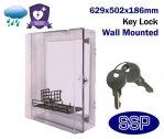 Large Key Lockable Clear Defibrillator Cabinet