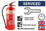Pre-Serviced and ready to use 6 litre AFFF Foam Fire extinguisher with bracket