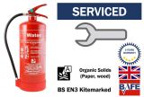 Pre-Serviced and ready to use 6 litre Water Fire extinguisher with bracket