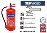 Pre-Serviced and ready to use 6 kg powder Fire extinguisher with bracket