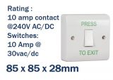Light Switch Style Press to Exit Button