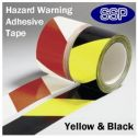 Self Adhesive Hazard Tape Black & Yellow (58630)