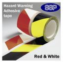 Self Adhesive Hazard Tape Red & White (58632)