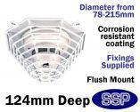 Smoke Detector Protector Flush Mounted Cage C9609