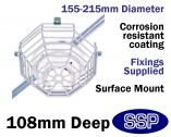 Smoke Detector Protector Surface Mounted Cage C9602