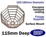 Smoke Detector Protector Surface Mounted Cage C9605-SS