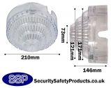 Polycarbonate Smoke Detector Cage CSurface Mounted C8130