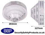 Cold Rolled Steel Coated Smoke Detector Cage Surface Mounted C8230-W