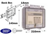 Key Lockable Enclosure with double-gang electrical box K500B