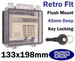 Key Locking Device Cover open rear for flush mount K500C