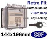 Key Lock Equipment Cover for surface mount K500D