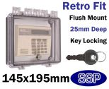 Key Lockable Control Cover for flush mount K500E
