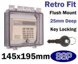 Key Lockable Control Cover for flush mount K500E