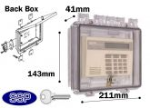 Key Locking Cabinet Enclosure with shallow back box K500F
