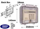 Thumb Lockable Enclosure shallow double-gang electrical box T501B