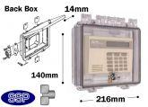 Thumb Lockable Enclosure shallow double-gang electrical box T501B