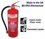 6 litre Foam Fire Extinguisher (stored pressure) 21A 144B